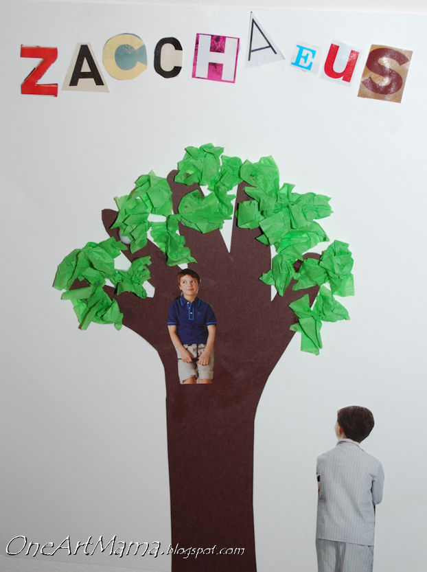 Pin zacchaeus craft for childrens lesson children use for Bible story crafts for kids