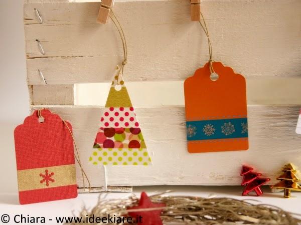 Biglietti natalizi con washi tape