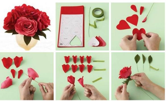 Flowers tutorial para hacer flores de papel - Como se hacen flores de papel ...
