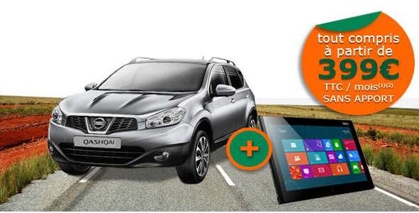 voiture communicante un nissan qashqai avec ipad 3g une offre d 39 orange et arval. Black Bedroom Furniture Sets. Home Design Ideas