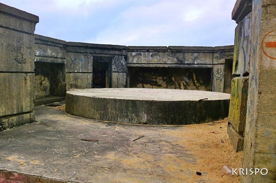 interior de bunker de las landas