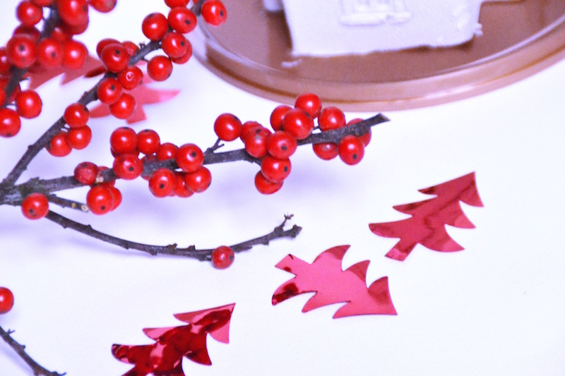 Sapin de noël rouge Hema