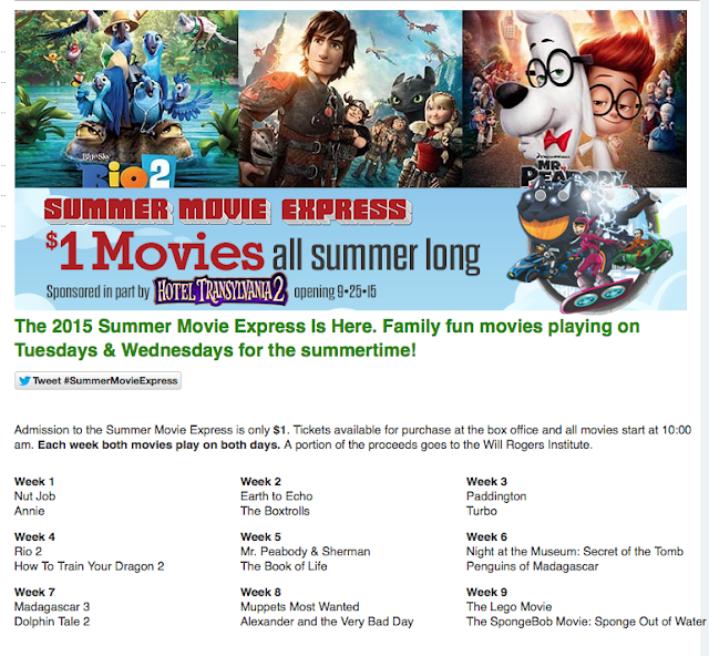 http://www.regmovies.com/Movies/Summer-Movie-Express