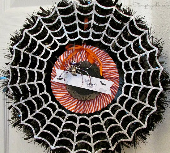 Halloween Wreath with beaded spider accent | Stampingville