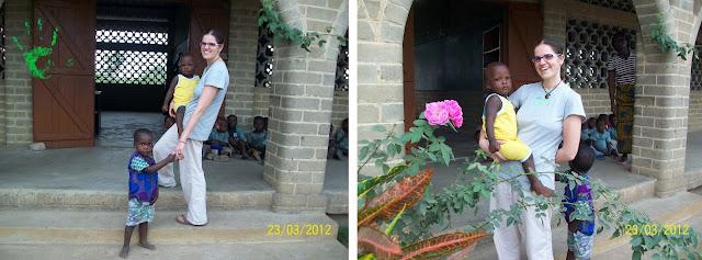 Immagini dei bambini della scuola della missione in Togo