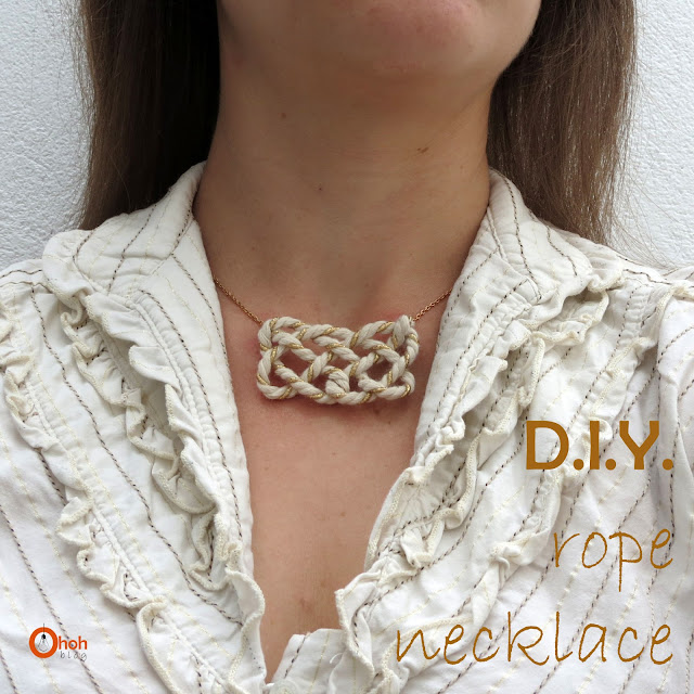 DIY Rope necklace