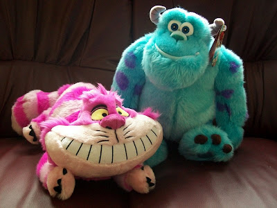 Alice In wonderland, Monsters Inc., Sulley, Ches, Plushes