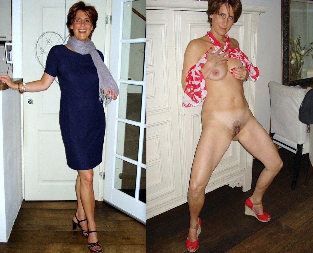 pajas maduras vestidas y desnudas