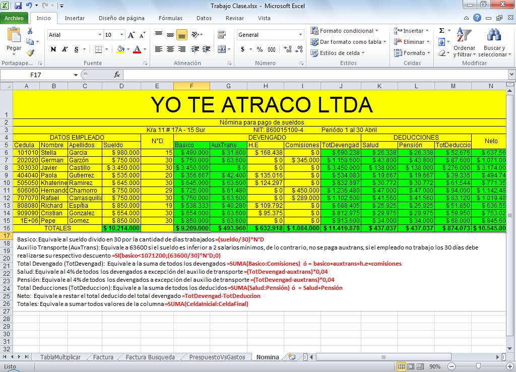 Nominas en excel images frompo 1 for Modelo de nomina en excel