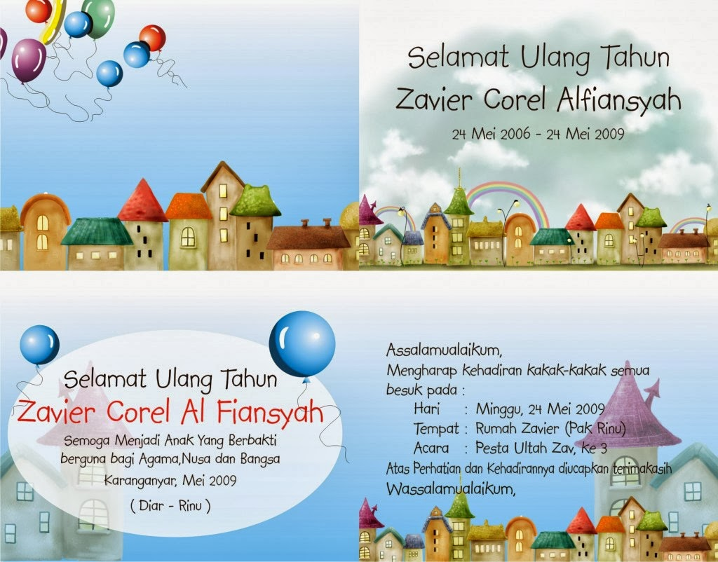 surat undangan ulang tahun bahasa indonesia