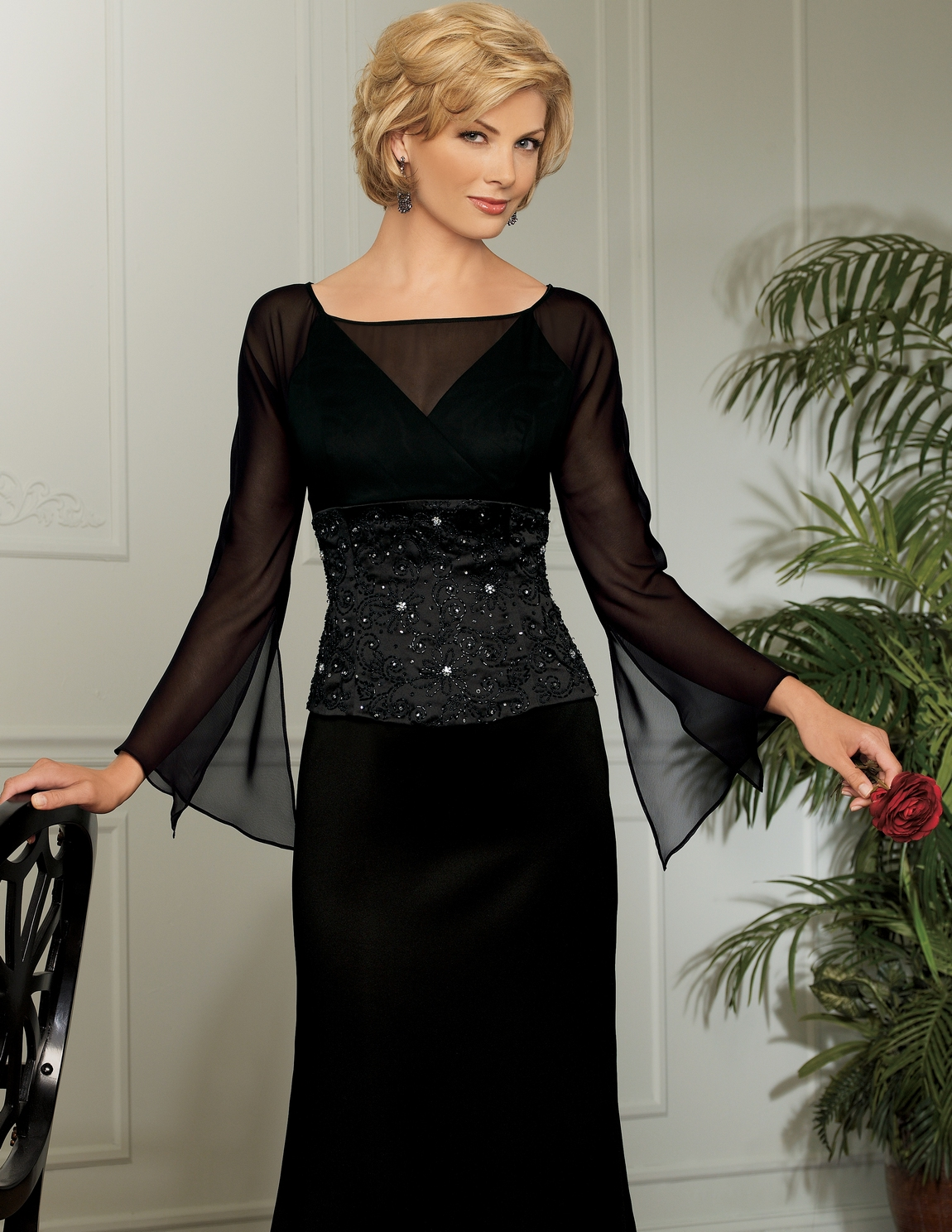 Mother Of The Bride Dresses Black - Overlay Wedding Dresses