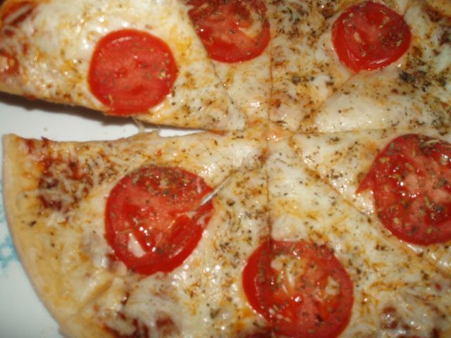 Tomato and Cheese Pizza with Udis Gluten Free Pizza Crust
