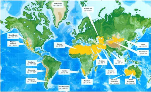 What is a desert a map showing the desert regions in the world gumiabroncs