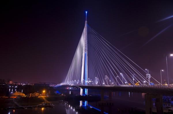 Most na Adi, Belgrade, Serbia by milan Photo