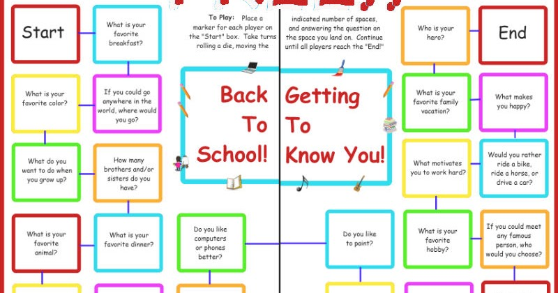 FREE} Back to School Getting to Know You Game!!   Preschool Powol ...