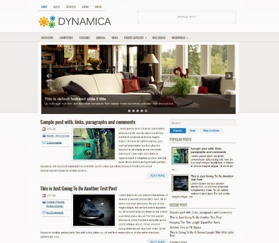 Dynamica Blogger Template