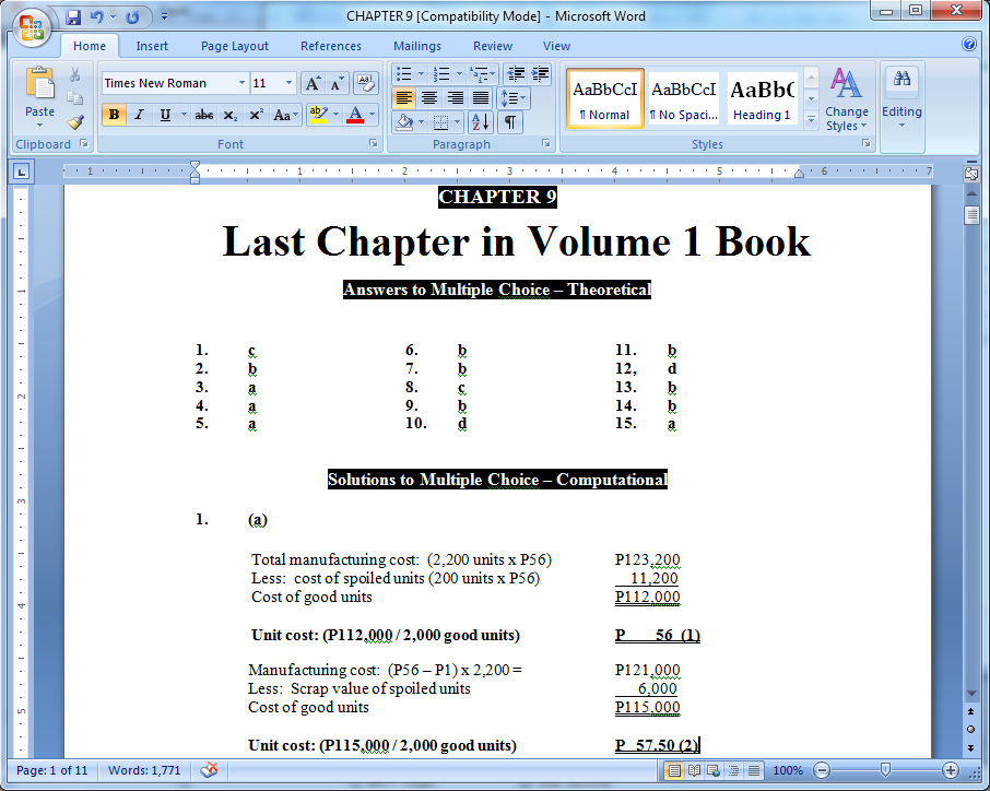 cost accounting chapter 2 solutions pdf