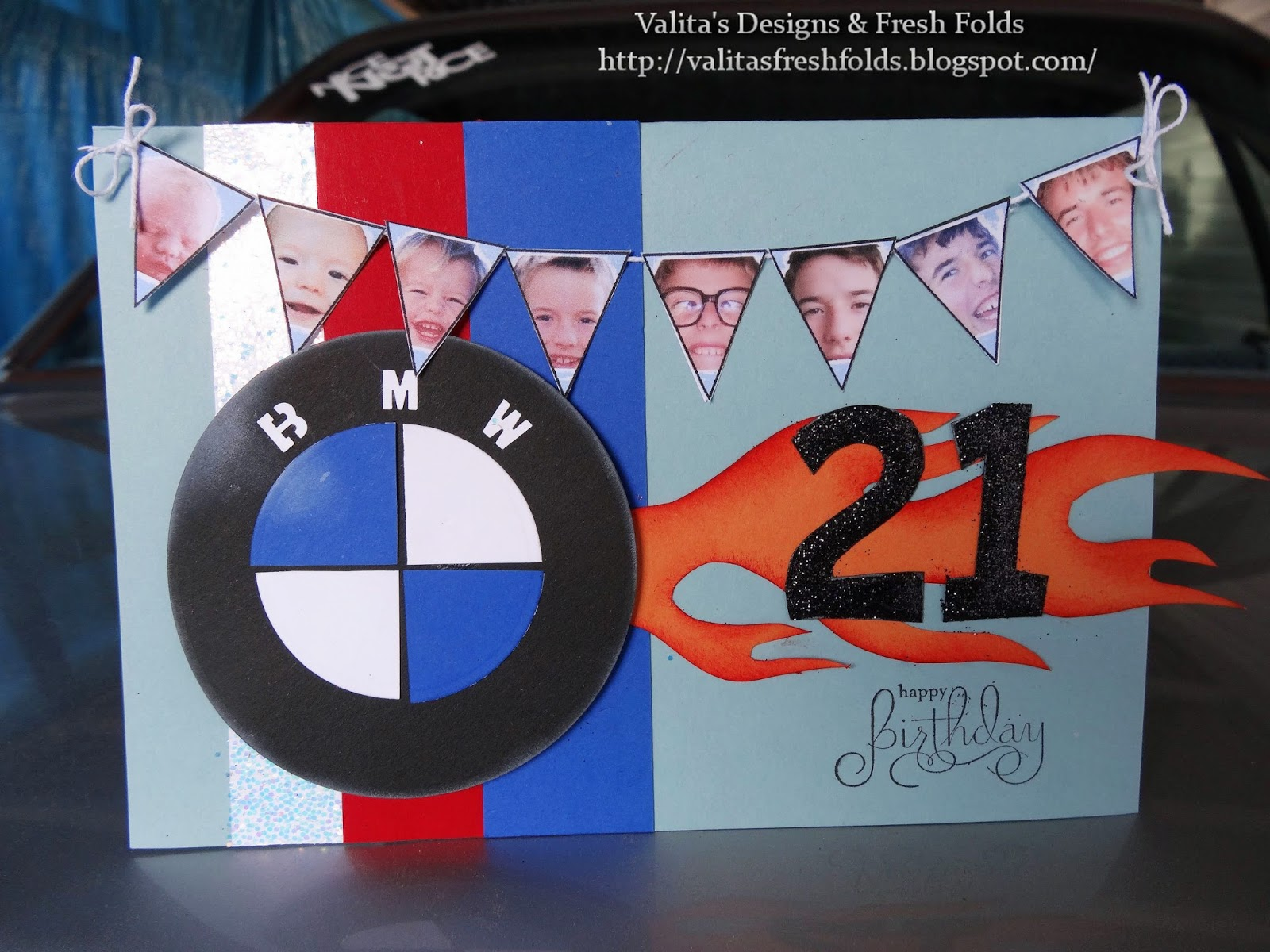Valitas designs fresh folds bmw card and suprise birthday bmw card and suprise birthday bookmarktalkfo Choice Image