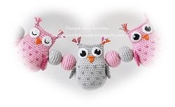 Owls and balls decoration for baby carriages