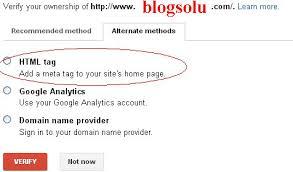 Verifikasi Webmaster Tool