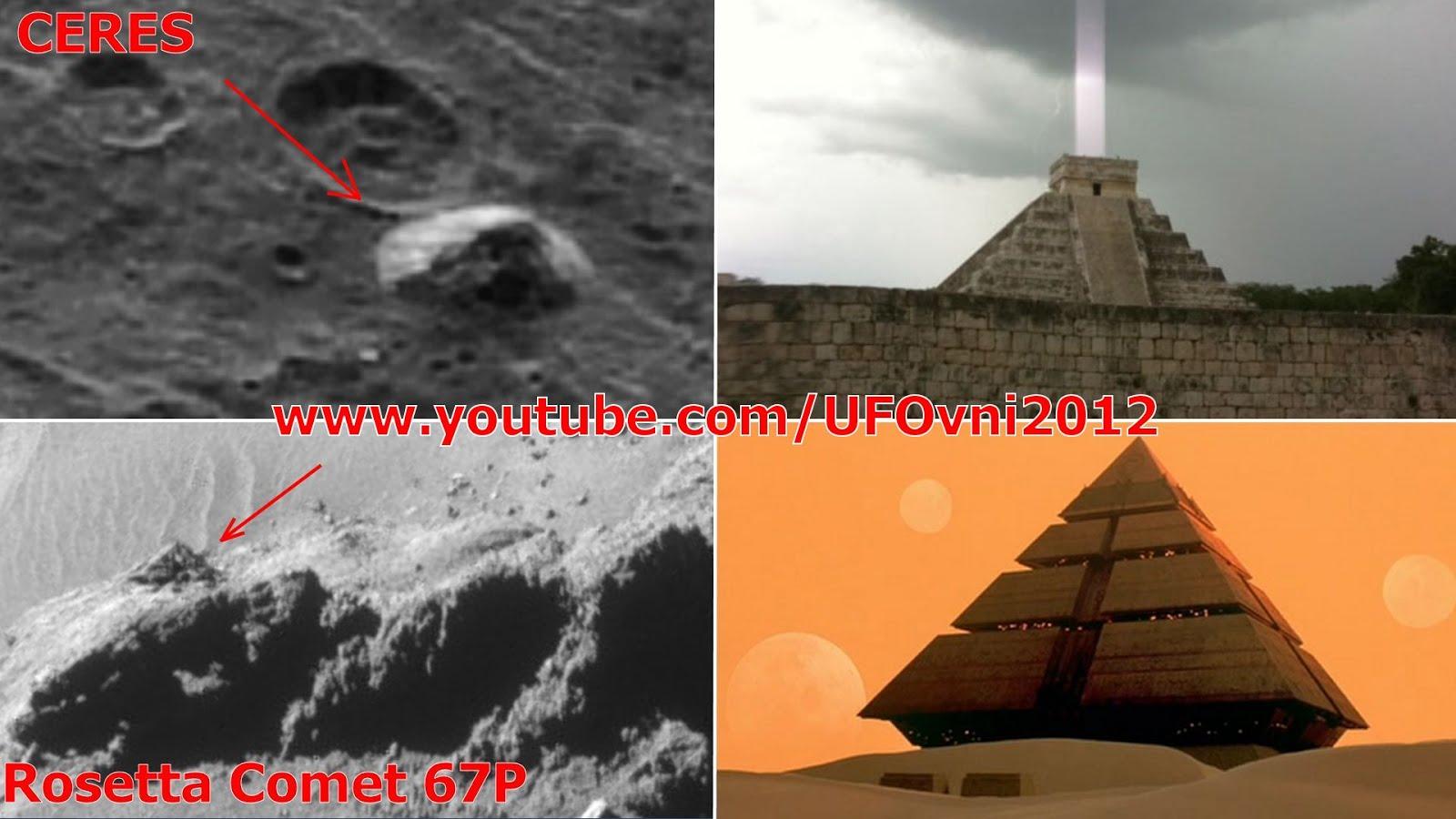 """""""PYRAMIDES """"trouvé sur le nain Planète Ceres, Rosetta 67P par la NASA"""