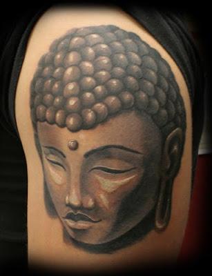 tattoo buddha kopf