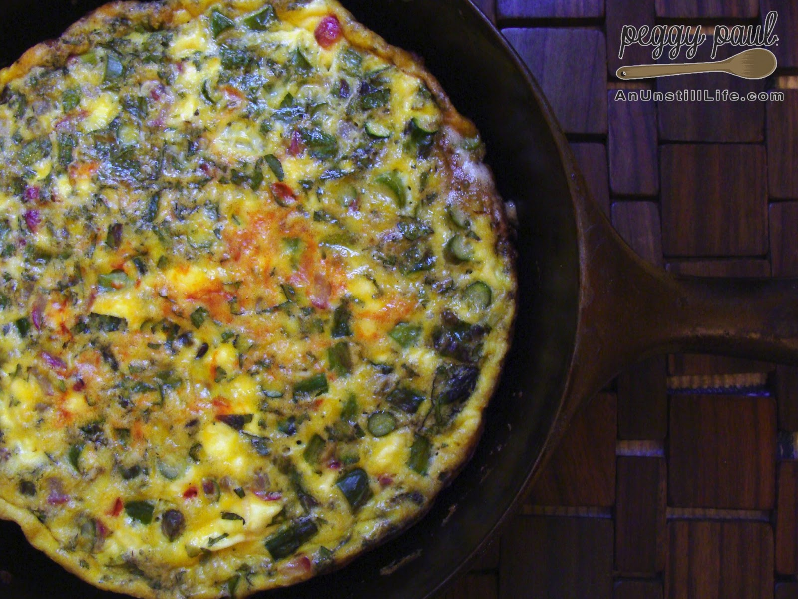 Spring Veggie Frittata (with asparagus, radishes, spring garlic, and ...