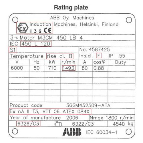 Motor Rating Plates Guide To Electrical Engineering
