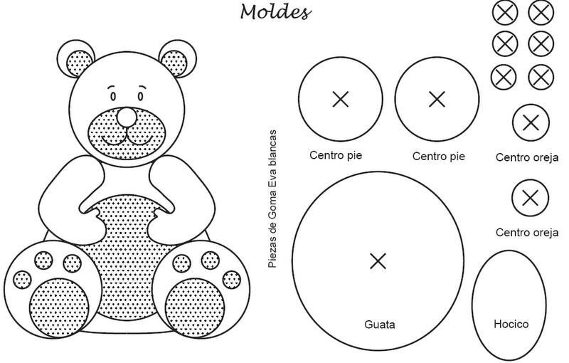 Moldes para hacer osos en foami - Imagui