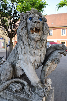 The Lion Statue in Erlangen, Germany