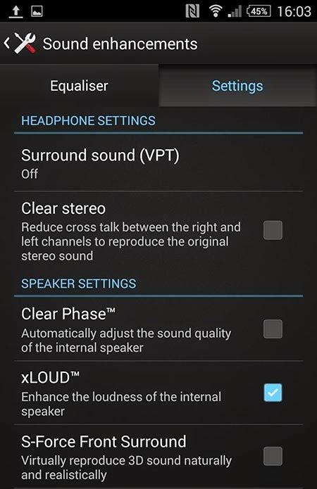 Sony Xperia Z2 Nhật Bản cài đặt