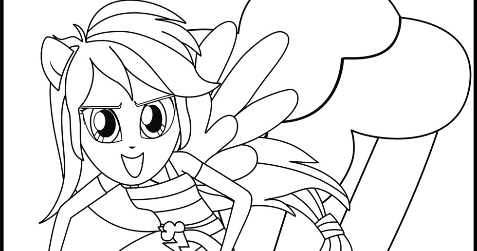 My little pony rainbow dash coloring pages for Rainbow dash printable coloring pages