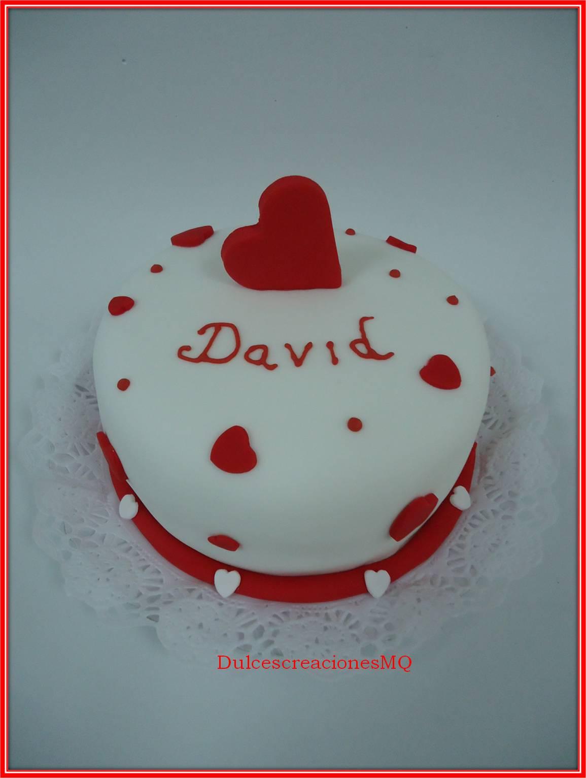 Bizcocho Victoria Sponge Cake Buttercream chocolate con leche Fruta de la Pasión Fondant San Valentín Tarta Enamorados Pastel Romántico