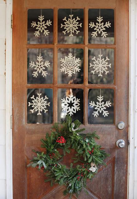 Aconchegante decoração de Natal | Imagem via pequena medida.