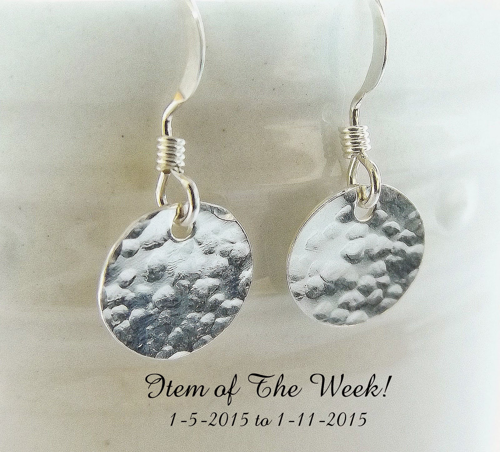 Item of the Week: Hammered Disc Earrings