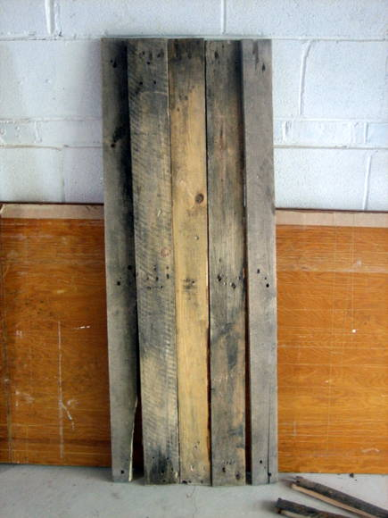 Step two of your DIY pallet sign is to gather some weathered wood to make the bulk of the sign.