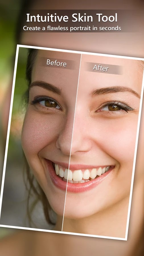 Skin Smoother Enhances Portraits