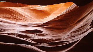 amazing rock formations caused by wind and water at Antelope Canyon, Arizona