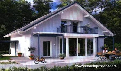 Casa de madera tipo nórdica en España