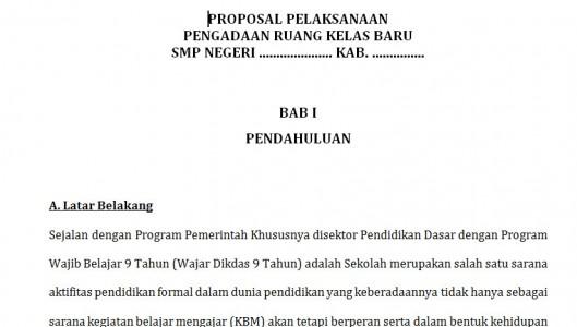 Contoh Format Proposal RKB Sekolah 2015
