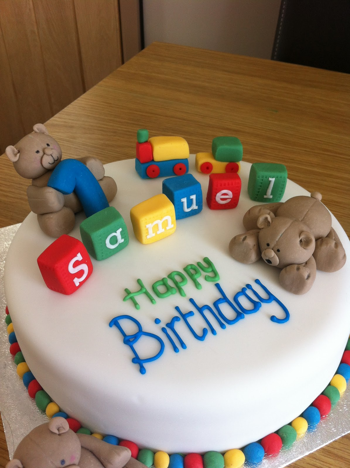 Cake Ideas For Boy First Birthday : Caked in Icing: First Birthday Cake