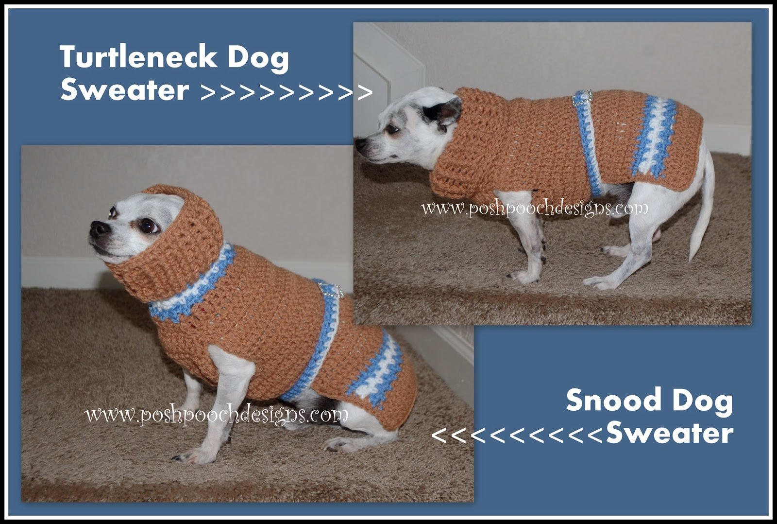 Free Crochet Pattern Dog Snood : Posh Pooch Designs Dog Clothes: Snood Turtle Neck Dog ...