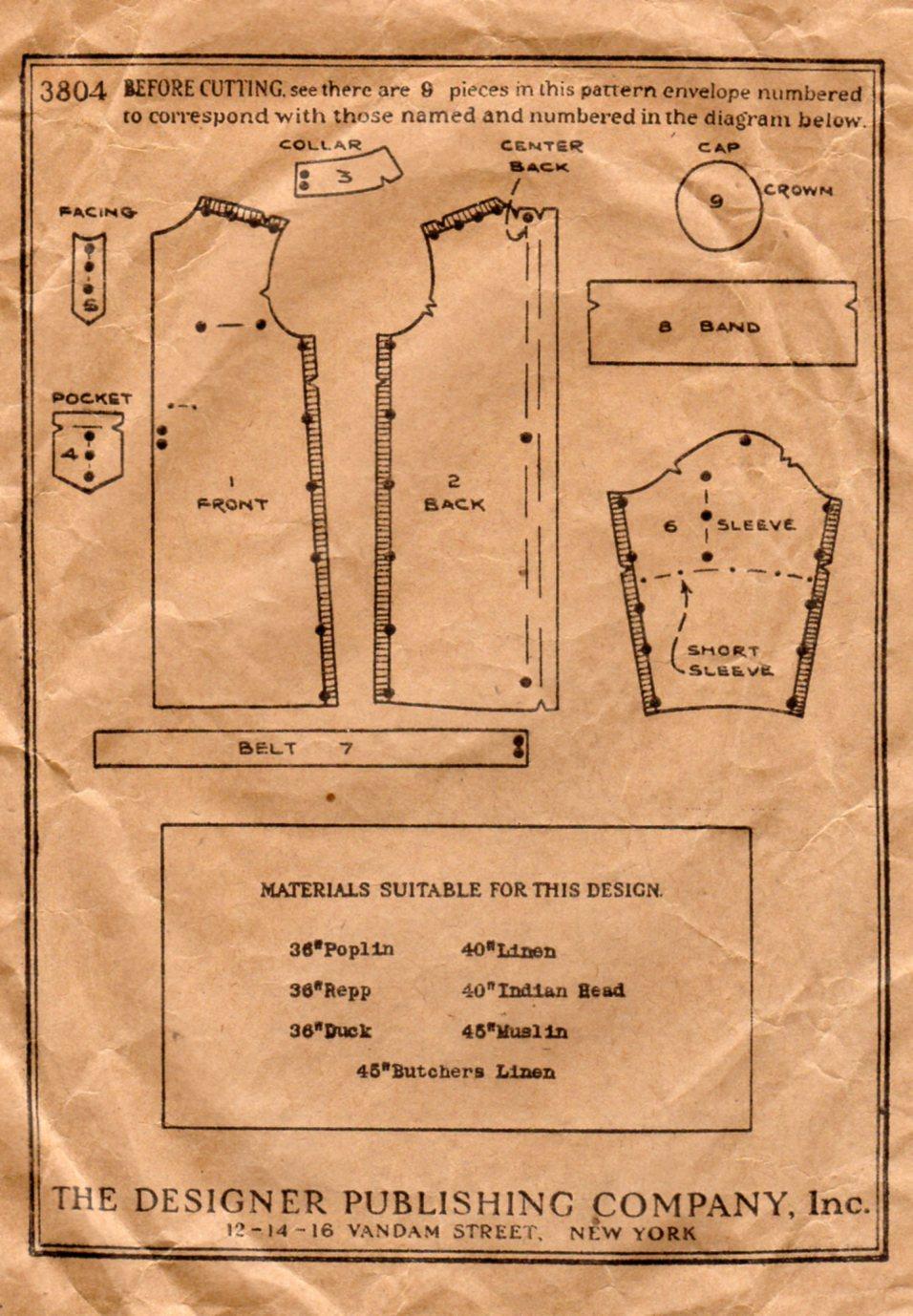 Unsung sewing patterns standard designer 3804 surgical gown and cap unsung sewing patterns jeuxipadfo Images