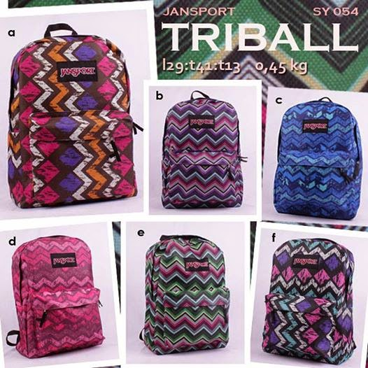 tas jansport murah motif tribal