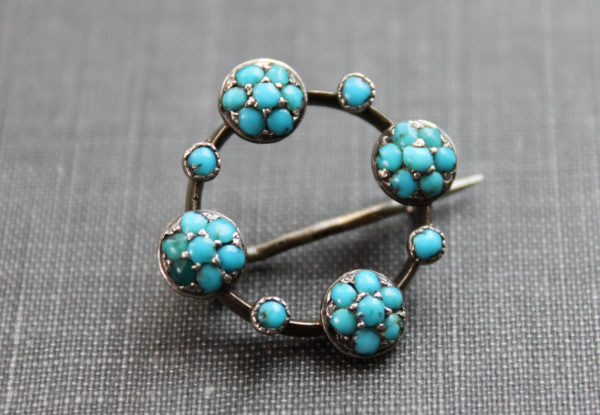 Georgian Turquoise Pin #antique #1800s #turquoise #jewelry