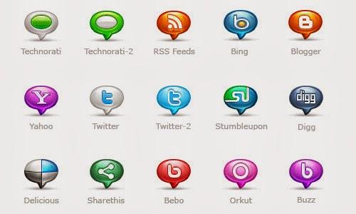 Social Media Bubblicons