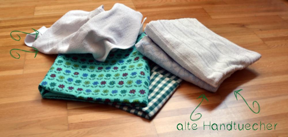 alte Handtücher für Küchenrollen | freinaht.blogspot.com