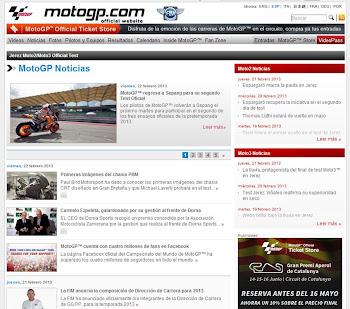 AMZ EN LA PAGINA OFICIAL DE MOTO GP