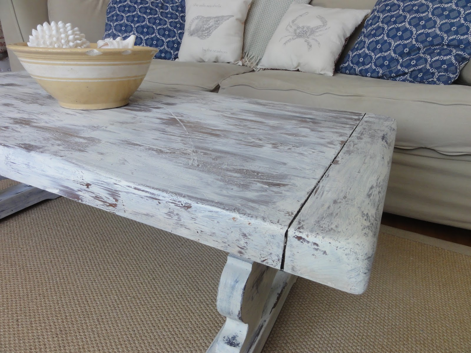 Melville Coffee Table Before & After Finding Silver Pennies