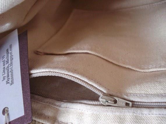 Panama tote bag inner - Lina and Vi